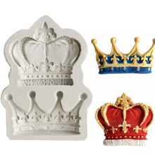 Crowns from Princess Queen 3D Silicone Mold Fondant Cake Cupcake Decorating Tools Clay Resin Candy Fimo Super Sculpey F0761(China)