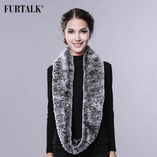 Women Super 140cm Long infinity scarf real rex rabbit fur shawl luxury fashion fur wraps scarf for women