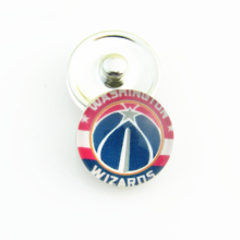 20pcs/lot Fashion Basketball Sports NBA Washington Wizards Snap Button Charms for DIY 18mm Snap Bracelet Jewelry
