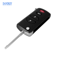 Dandkey 4 Buttons Remote Key Flip Shell Case Uncut Blank For Chrysler Dodge Jeep Intrepid Stratus 3 +1 Panic Free Shipping(China)