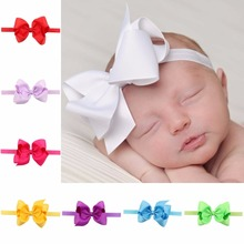 infant baby hair bows newborn hair bow child hair bands hairbow Toddler hairbands(China)