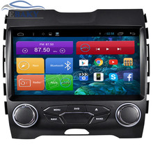 1024*600 9inch Quad Core Android 4.4 Car Radio for Ford Edge 2015- With Bluetooth 16GB Nand Flash 3G Wifi Mirror Link Free Map