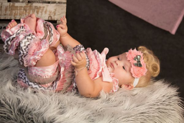Girls Pink gray chevron lace romper with matching leg warmers,photo prop birthday pageant vintage look Easter outfit<br><br>Aliexpress