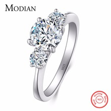2017 New 2Ct 925 Sterling Silver Ring for Women Ten Hearts CZ Wedding Ring Brand O anillos anel aneis Crystal Wholesale Jewelry(China)