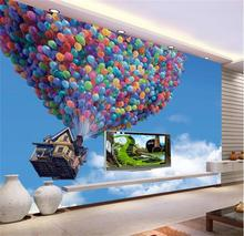 3d room wallpaper custom murals non-woven wall sticker 3D Flying house global TV background painting photo wallpaper for wall 3d