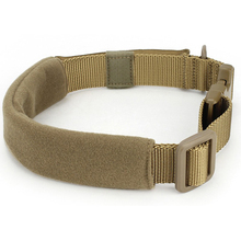 Military Tactical Dog Collar Hunting Nylon Double Thicken Pads Dog Collar Hunting Airsoft Paintball Dog Training Accessories