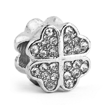 Beads Fits Pandora Jewelry Bracelets Silver PETALS OF LOVE Clover Charming Original DIY Pulseira Perlas Charms Wholesale