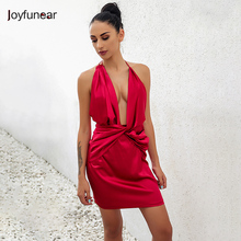 Joyfunear new fashion elegant women's club dress sexy fashion sleeveless summer women sexy party package hip fold dress(China)
