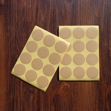 Wholesale 600pcs Blank Round Kraft Sticker for Handmade Product Gift Seal Label Sticker For Party Favor Gift Bag Candy Box Decor(Hong Kong)
