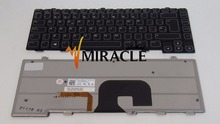 Laptop Keyboard FOR DELL Alienware M14X R2 Series Spanish SP layout replacement keyboard with backlit and frame New and Original