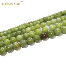 AAA 100% Naturel Ronde Chinois Jade Perles Pierre Perles Pour Jewelry Making BRICOLAGE Bracelet Collier 4/6/8 /10/12mm Brin 15''(China)