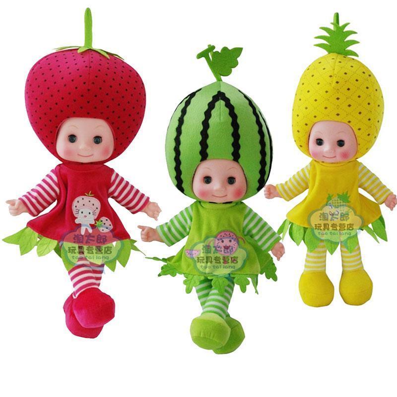 1Pcs Fruit Shape Doll Musical Plush Singing Stuffed Fruit Toy Dolls Gifts<br>