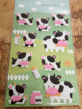 Cute Classic Black White Milk Cow Printed Felt Sticker DIY Nonwoven Felt Fabric