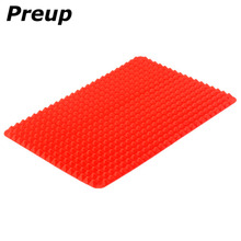 PREUP Home Red Pyramid Bakeware Pan Nonstick Silicone Baking Mats Pads Moulds Cooking Mat Oven Baking Tray Sheet Kitchen Tools(China)