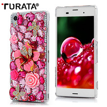 3D Bling Diamond Capa Transparent Funda Protective Back Cover Skin Hard PC Rhinestone Phone Case For Sony Xperia Z3 Coque Fundas(China)