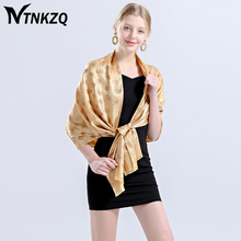 [NTNKZQ] Top Grade New Noble Scarf Women Luxury Brand Elephant Pashmina Silk Scarves Long Shawl Tippet foulard bufandas(China)