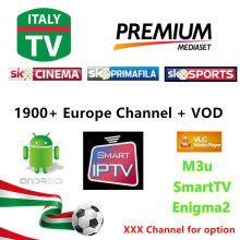 6/12 Months 2000 Live TV IPTV M3U ENIGAM2 Androd IPTV ITALY German French Spain UK IT MEDIASET PREMIUM PRIMAFILA USB Wifi