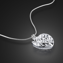 Female 925 sterling silver necklace hollow heart pendant design solid silver necklace girls fashion jewelry birthday present(China)