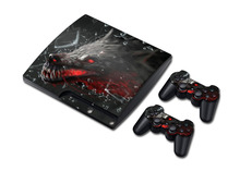 For ps3 skin PVC Protection Skin Cover Case Sticker For Sony PS3 System Console+2 Controller