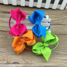 23Colors in Stock 3inch Hair Ribbon Bows HairBand for Children Hair Accessories Boutique Bows Hair Ties 23pcs/lot Free Shopping