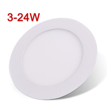 LED Panel Light Ultra-thin LED Downlight Round LED Ceiling Recessed Light 3/4/6/9/12/15/18/24W 85-265V SMD2835