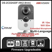 HIKVISION DS-2CD2420F-IW(2.8mm) Original English Version IP Camera 2MP Support POE WIFI Mini Camera IP Camera P2P Onvif  HD HIK