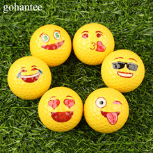 gohantee Funny Emoji Faces Golf Balls Novelty Fun Golf Practice Balls Lovely Face Pattern Golf Balls For Kids Beginner Training(China)