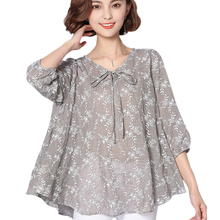 Summer Women Blouses And Tops 2017 Loose Linen Cotton Blouse Tunic Shirt 6XL Plus Size Women Clothing Ladies Casual Tops Blusas(China)