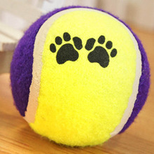 2017 New Cute Pets Suppliers Dog Cat Tennis Balls Run Play Chew Toys Dog Pet Toys(China)