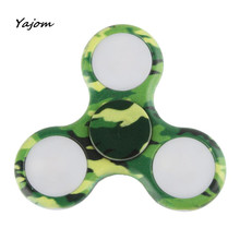 LED Hand Spinner Flashing EDC Anti-Stress  Toys Light Up ADD ADHD Metal Toys Brand New High Quality Gags & Practical Jokes