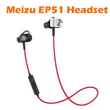 Original Meizu EP51 Sports Bluetooth Stereo Headset Nano Waterproof With MIC Aluminium Alloy Support IOS Android Red-Black(China)