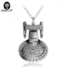 Star Trek Necklace Spacecraft Enterprise Pendant Necklace Vintage fashion jewelry Necklaces Long Chain For men Charm Accessories(China)