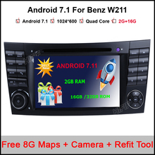 RAM 2G 1024*600 Quad Core Android 7.11 Car DVD For Mercedes BENZ W211 E Class W219 CLS Player GPS TV 3G Radio Support DTV DAB