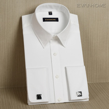 Spring and autumn French shirt male long-sleeve slim the groom cufflinks commercial paragraph formal male shirt
