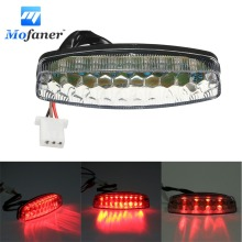 Red Motorcycle LED Rear Tail Brake Light For 50 70 110 125cc ATV Quad Kart TaoTao Sunl Chinese Motorcbike Light