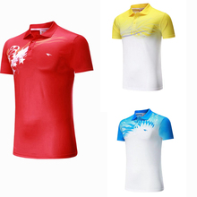 2017 Sportswear Quick Dry breathable badminton shirt ,Women/Men table tennis shirt running team game short sleeve POLO T Shirts