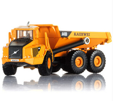 Alloy Diecast dump Truck Model 1:87 Miniature Engineering Truck Articulated Loading and unloading vehicle Collection gift KDW