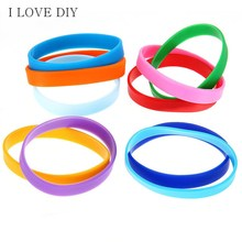 Assorted Solid Colors Silicone Wristbands Wrist Bands Rubber Bracelets 2 pcs For Womens Mens