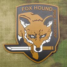 Tan Metal Gear Solid MGS FOXHOUND SPECIAL FORCE GROUP 3D PVC patch PB1418