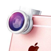 Universal 3 1 Clip Fisheye Lens Camera Fish Eye Wide Angle Macro Lenses Iphone 7 6 6s 5 4s Samsung Huawei Sony Smartphone