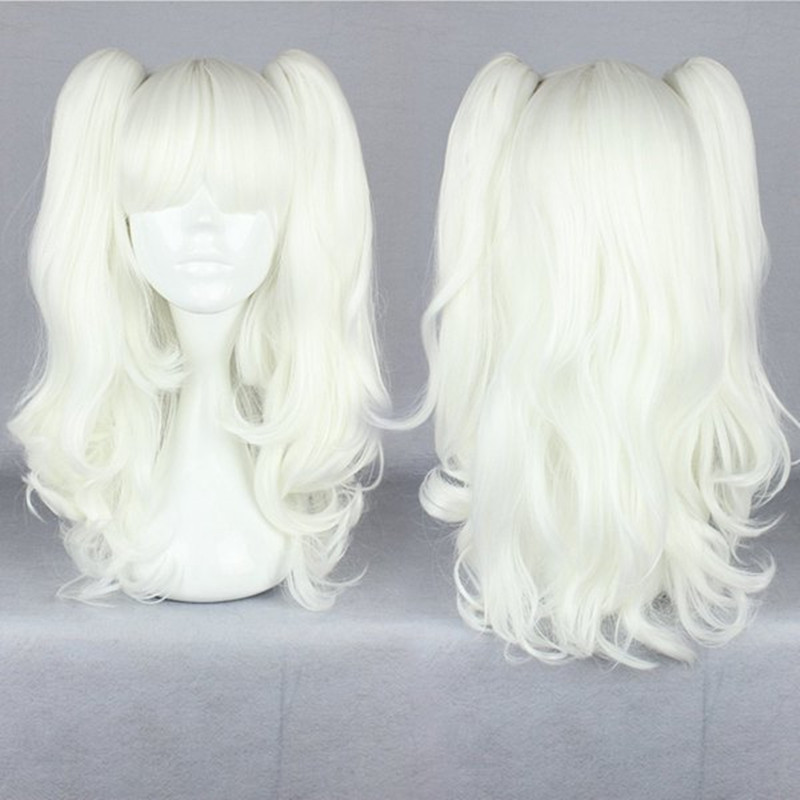 MCOSER Fashion White 45cm Long White Lolita Ponytails Clip on Cury Cosplay Anime Party Wig<br><br>Aliexpress