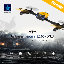 Cheerson CX-70 Transformable Bat Drone 0.3MP HD Camera Wifi FPV Wearable Quadcopter G-Sensor Selfie Drone Pocket Helicopter(China)