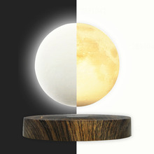 Maglev Magnetic Moon LED Night light Wireless Power Smart Switch Touch 360 Rotation Floating Light Lamp(China)