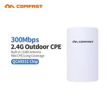 2.4G Comfast CF-E110N 300Mbps mini outdoor wireless cpe wifi extender repeater network bridge for wifi signal receiver send cpe