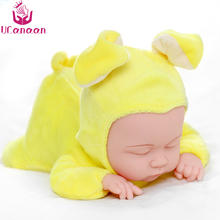 Rabbit Plush Stuffed Baby Doll Simulated Babies 25CM Sleeping Dolls Children Toys Birthday Gift For Babies Kids 5 Colors reborn