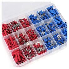 360 pcs Insulated Assorted Electrical Wire Terminal Crimp Connector Spade Set