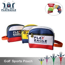 Golf Bag High Quality Waterproof PU Leather Men and Women Mini Handbag Lady Cosmetic bag Golf Pouch(China)