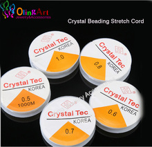 OlingArt 0.4 0.5 0.6 0.8 1.0MM Spool of Crystal Clear Stretch Elastic Beading Wire/Cord/String/Thread DIY jewelry making(China)