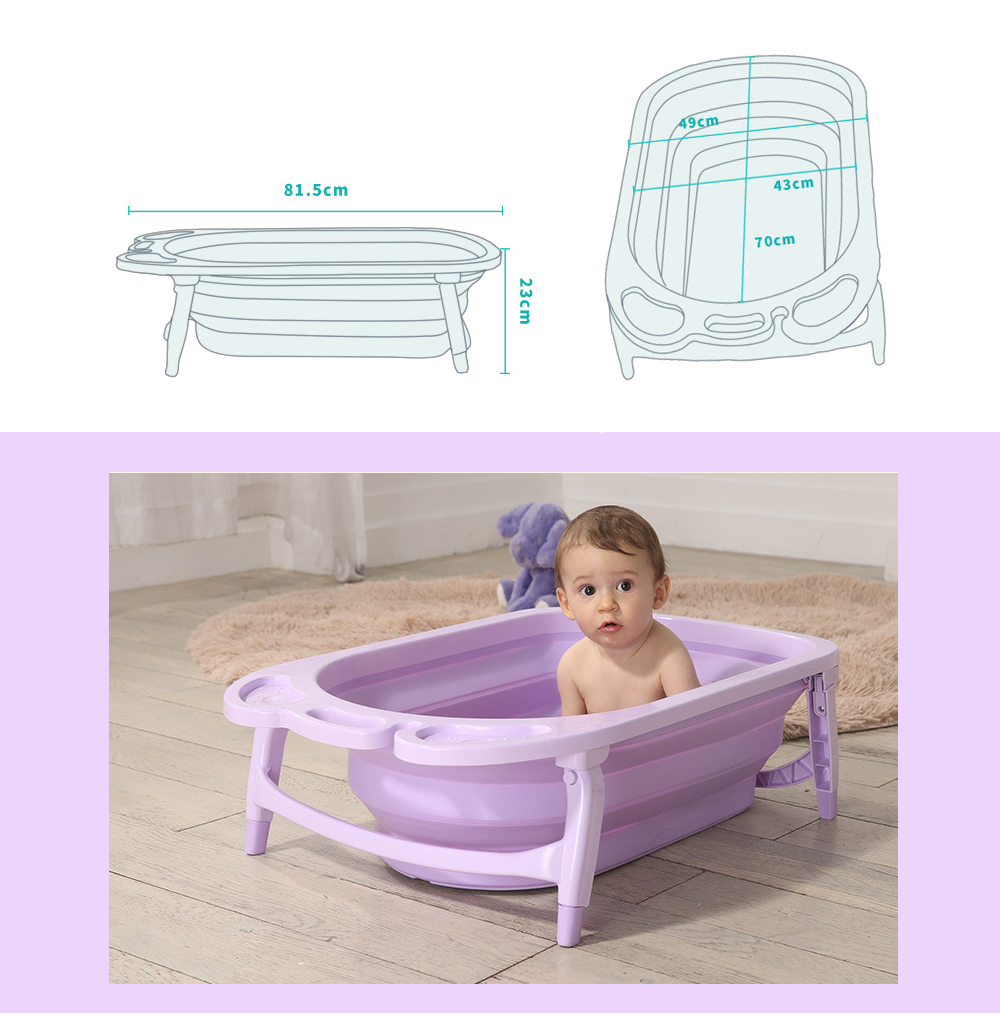 3 Colors Portable Folding Baby Bath Tub Large Size Anti-Slip Bottom Non-Toxic Material Children Bathtub Bucket for Baby Bathing (4)