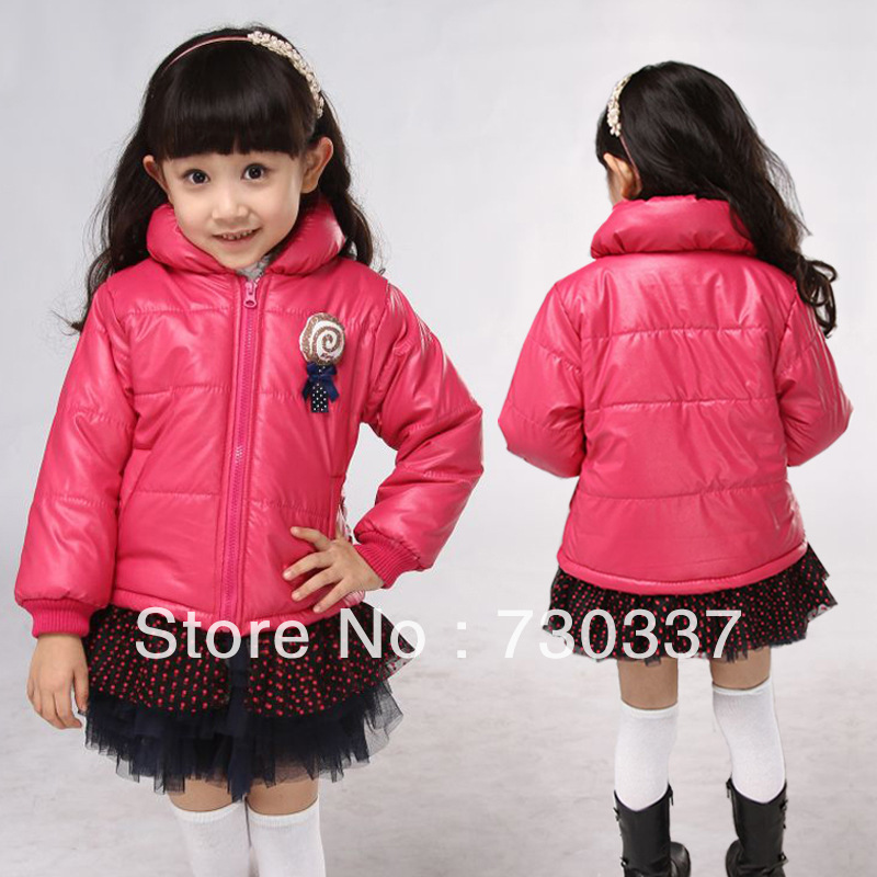 Free shippingWinter girl cotton candy color solid-colored coat of the girlsОдежда и ак�е��уары<br><br><br>Aliexpress